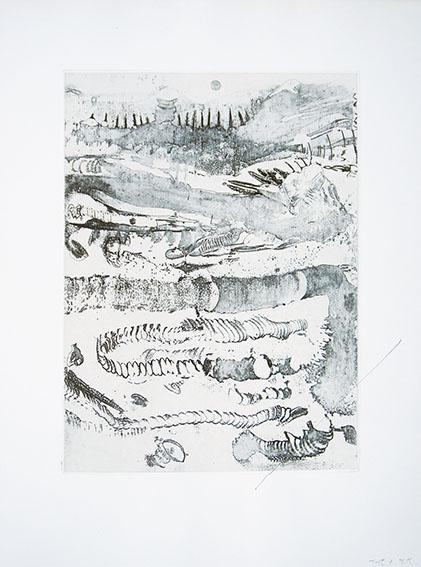 加納光於版画「響 Test」/Mitsuo Kano