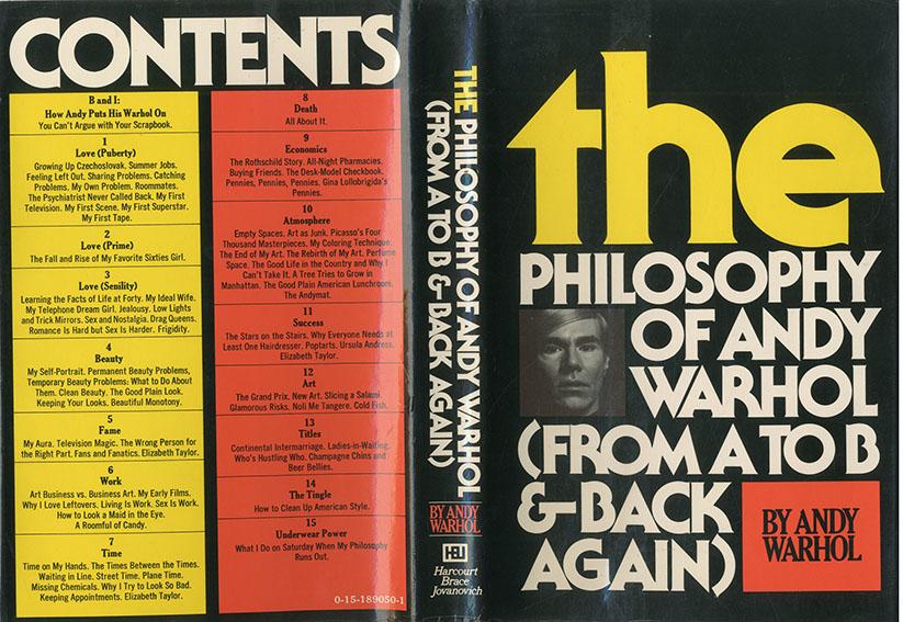 アンディ・ウォーホルの哲学 The Philosophy of Andy Warhol/アンディ・ウォーホル