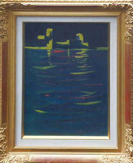 飯田善国画額「ベニスの夜」/Yoshikuni Iida