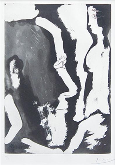 パブロ・ピカソ版画額「Sculpteur Travaillant A Une Buste De Femme,Ⅱ」/Pablo Picasso