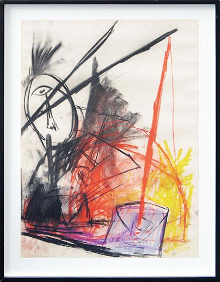 イケムラレイコ画額「Untitled」/Leiko Ikemura
