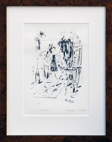 金子国義版画額「Sur L'Eau Queen Alice」/Kuniyoshi Kaneko