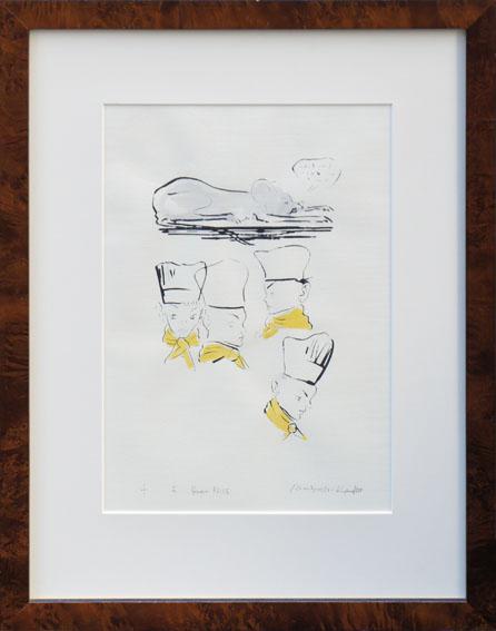 金子国義版画額「Cuisine Le Rat Renomme Queen Alice」/Kuniyoshi Kaneko