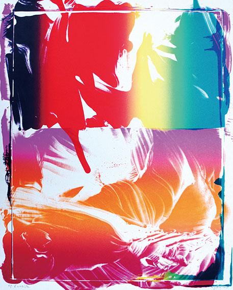 加納光於版画「稲妻捕り-3」/Mitsuo Kano