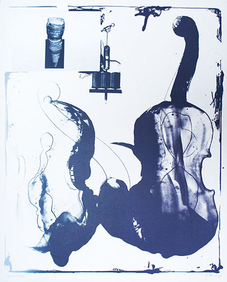 加納光於版画「稲妻捕り-4」/Mitsuo Kano