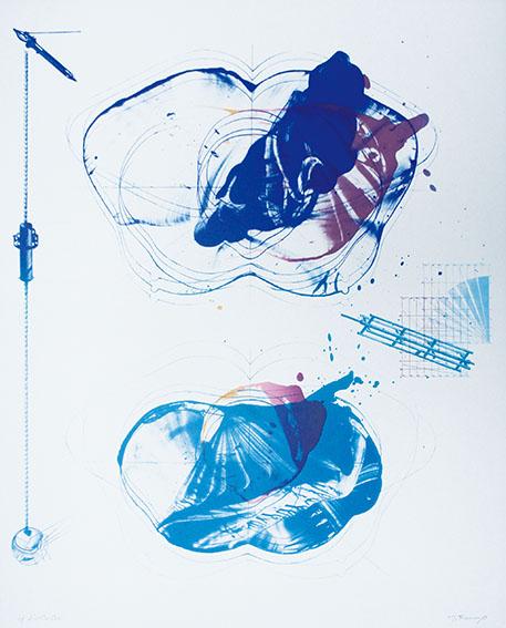 加納光於版画「稲妻捕り-10」/Mitsuo Kano