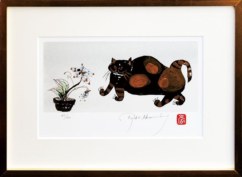 フジ子・ヘミング版画額「ソニア・Ⅱ」/Fujiko Hemming