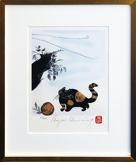 フジ子・ヘミング版画額「タンゴ君」/Fujiko Hemming