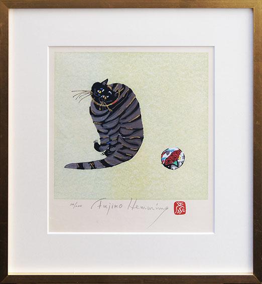 フジ子・ヘミング版画額「クリコ」/Fujiko Hemming