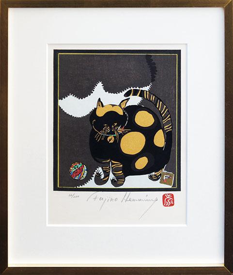 フジ子・ヘミング版画額「ソニア」/Fujiko Hemming
