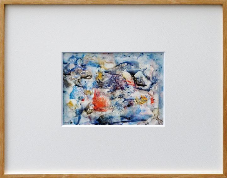 難波田龍起画額「園庭」/Tatsuoki Nambata