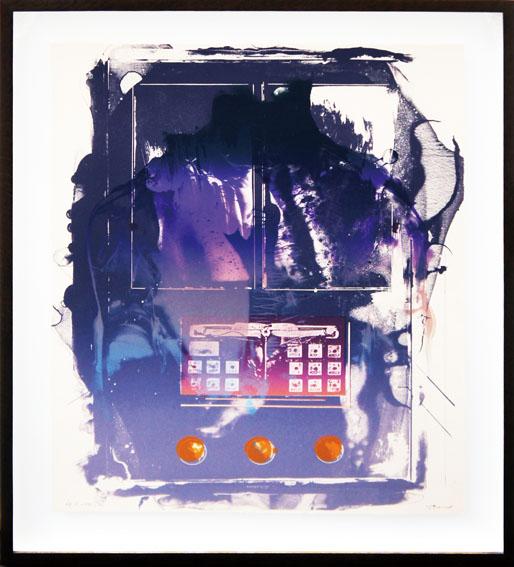 加納光於版画額「稲妻捕り-11」/Mitsuo Kano