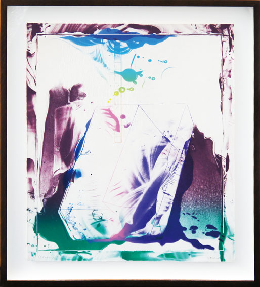 加納光於版画額「稲妻捕り-5」/Mitsuo Kano