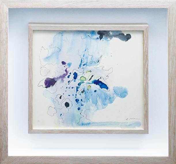 加納光於画額「作品」/Mitsuo Kano