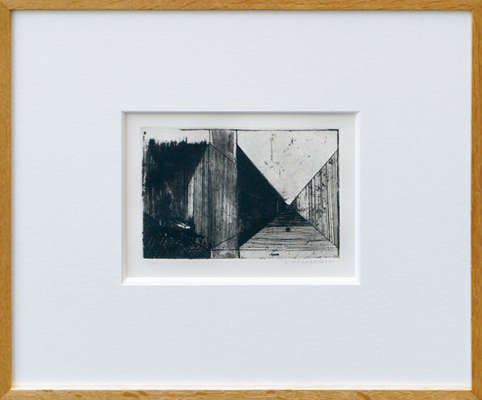 若林奮版画額「境川-II」/Isamu Wakabayashi