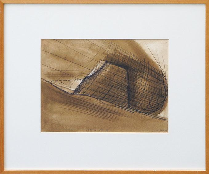 若林奮画額「Untitled 1974.4.17」/Isamu Wakabayashi