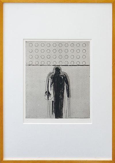 若林奮版画額「1989 No3」/Isamu Wakabayashi