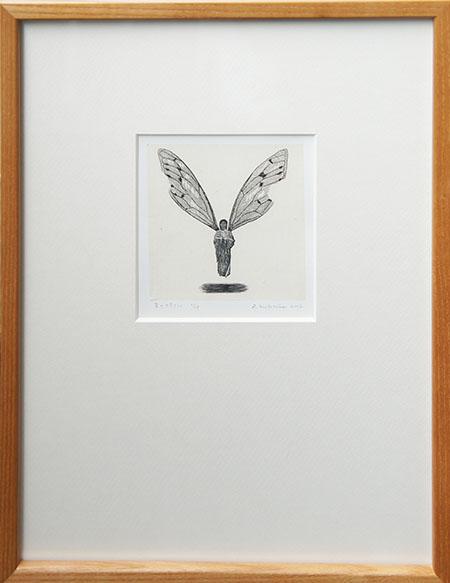 冬澤未都彦版画額「夏の終りに」/Mitohiko Fuyusawa
