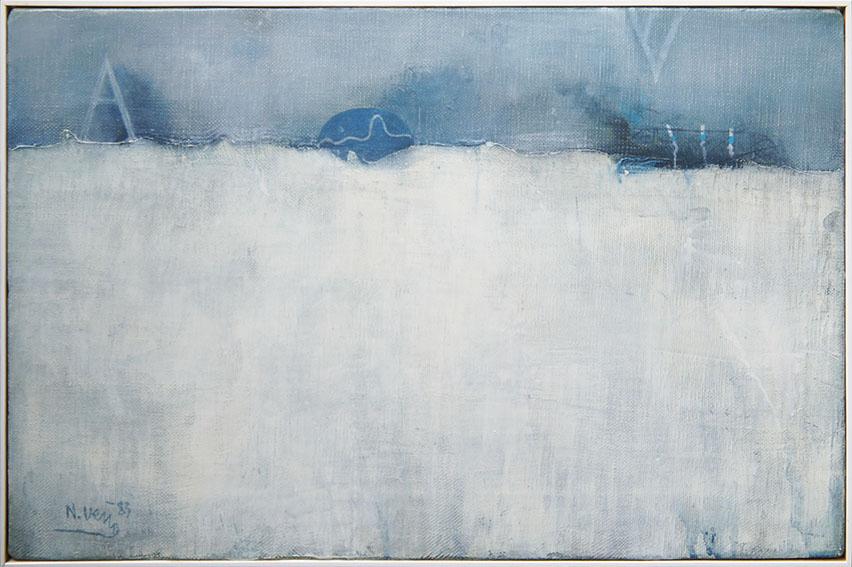 上野憲男画額「灰色の幻影・あるいは浮遊するA」/Norio Ueno