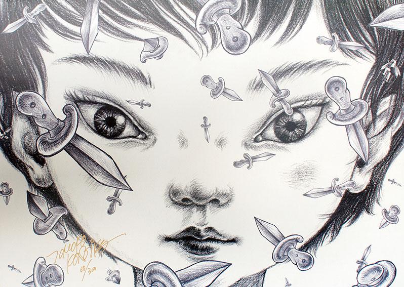 鴻池朋子版画「mimio -Odyssey-」アニメーション原画より/Tomoko Konoike