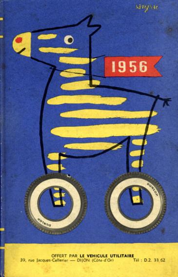 レイモン・サヴィニャック Raymond Savignac: Agenda Dunlop 1956/
