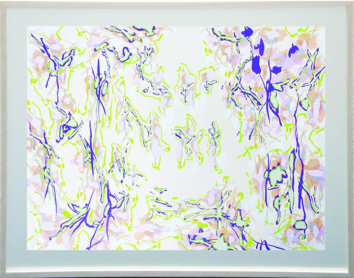 中西夏之版画額「夏至のG/Z」より2/Natsuyuki Nakanishi