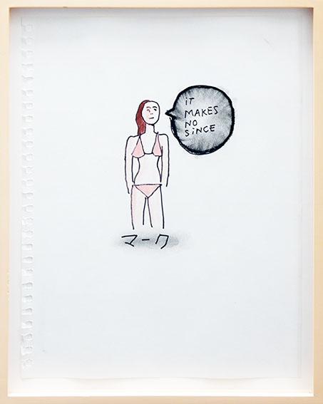 マーク・ゴンザレス画額「iT MAKES NO SiNCE」/Mark Gonzales