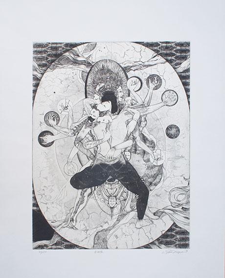 多賀新版画「合体図」/Shin Taga