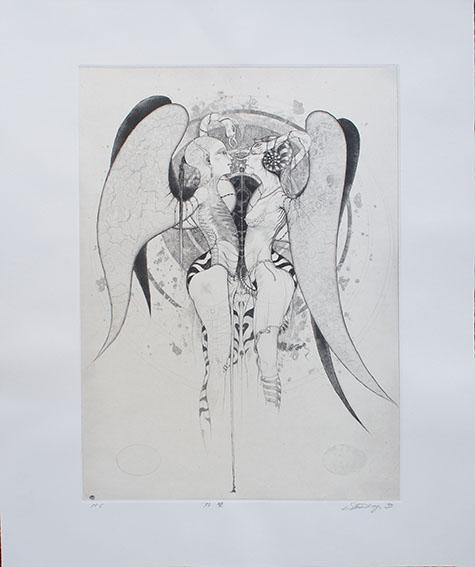多賀新版画「双璧」/Shin Taga