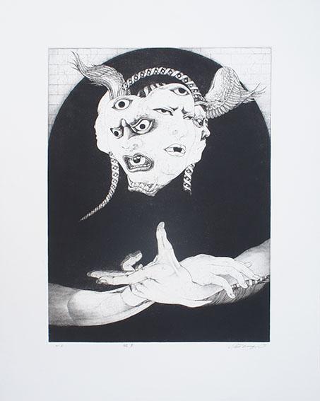 多賀新版画「飛来」/Shin Taga