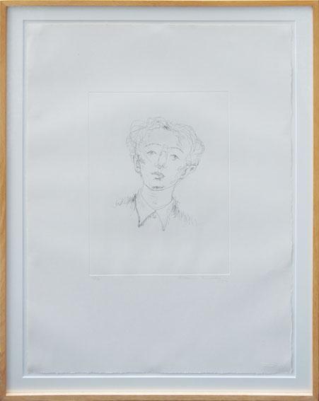 舟越桂版画額「Study」/Katsura Funakoshi