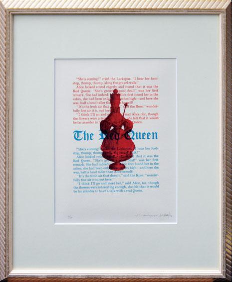 金子国義版画額「The Red Queen」/Kuniyoshi Kaneko
