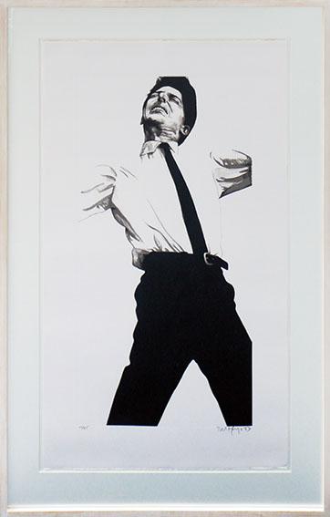 ロバート・ロンゴ版画額「Jules」/Robert Longo