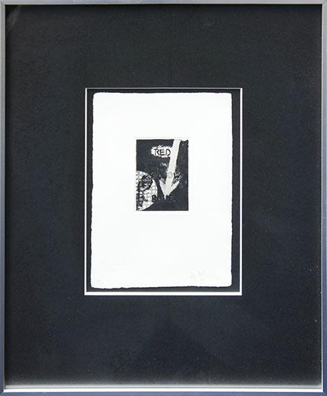 ジャスパー・ジョーンズ版画額「Untitled」/Jasper Johns