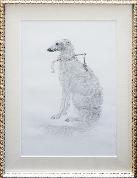 松井冬子画額「犬図」/Fuyuko Matsui