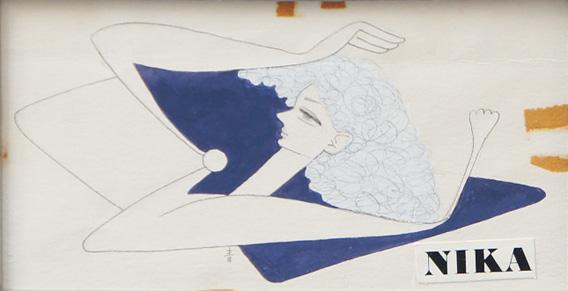 『商業美術二十五周年記念』チケット図案/東郷青児