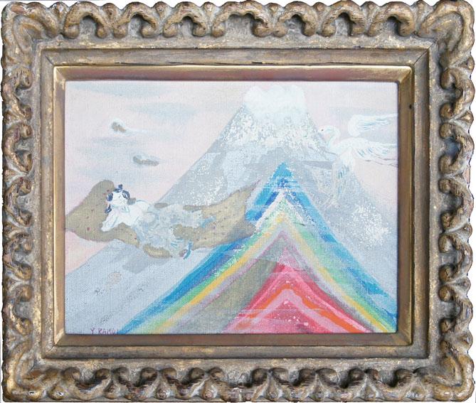 鴨居羊子画額「虹の富士」/Yoko Kamoi