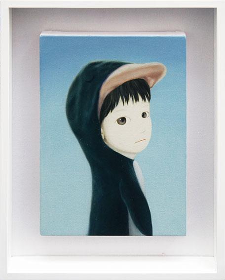 山本麻友香画額「Penguin Boy」/Mayuka Yamamoto