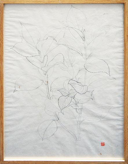 三上誠画額「花」/Makoto Mikami
