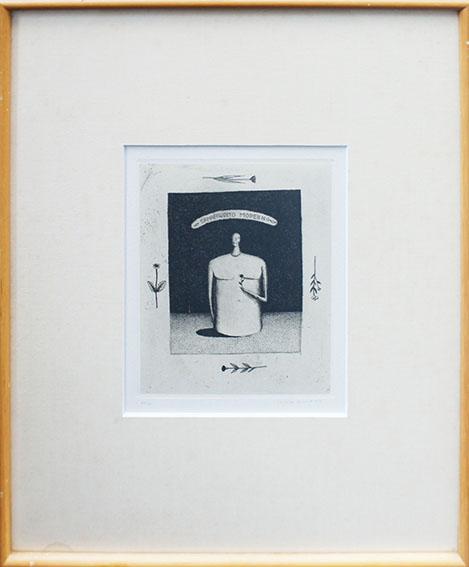 河原朝生版画額「Ermafrodito Moderno」/Asao Kawahara
