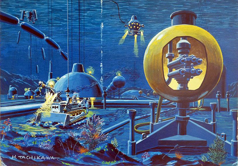 立川博章作品「海底-1」/Hakusyo Tachikawa