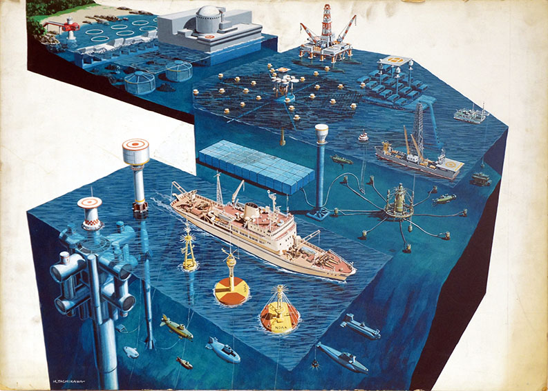 立川博章作品「海底-3」/Hakusyo Tachikawa