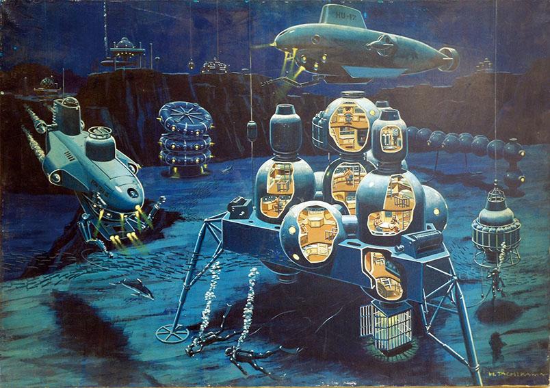 立川博章作品「海底-4」/Hakusyo Tachikawa