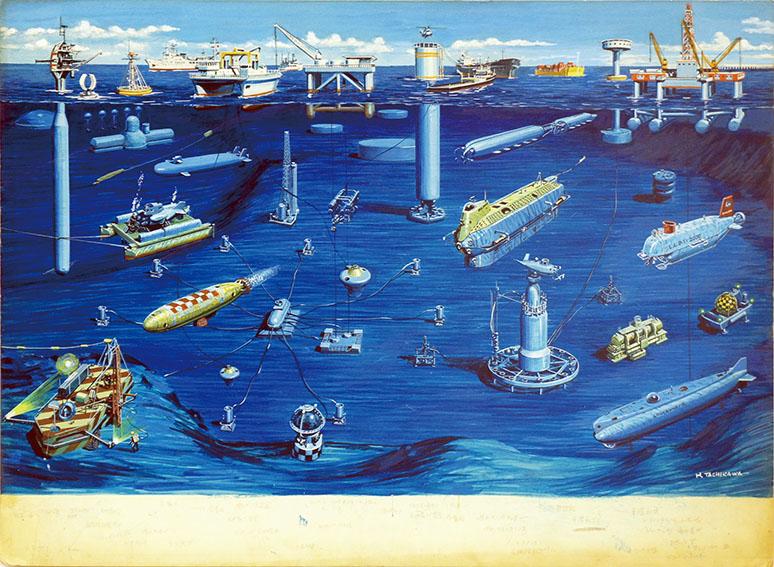 立川博章作品「海底-6」/Hakusyo Tachikawa