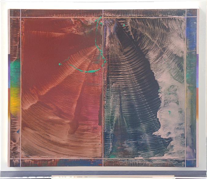 加納光於画額「〈たてがみ-北東風〉Ⅴ」/Mitsuo Kano