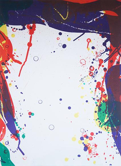 サム・フランシス版画「Untitled」/Sam Francis
