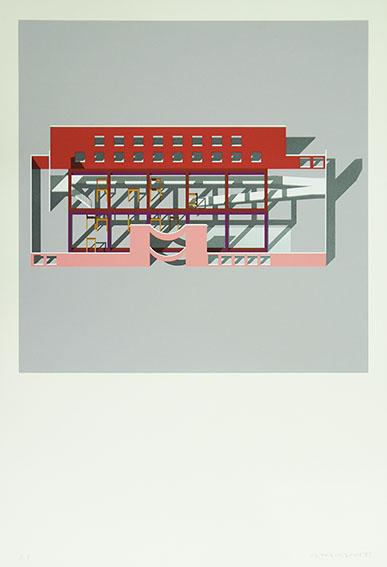 磯崎新版画「Clinic」/Arata Isozaki
