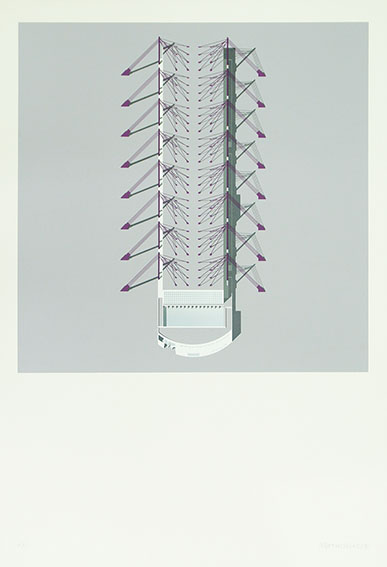 磯崎新版画「Convention Center」/Arata Isozaki