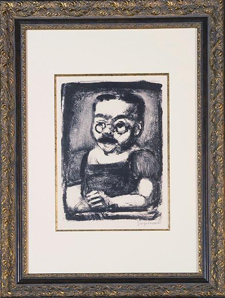 ジョルジュ・ルオー版画額「むさい市民 Citoyen Moche」/Georges Rouault