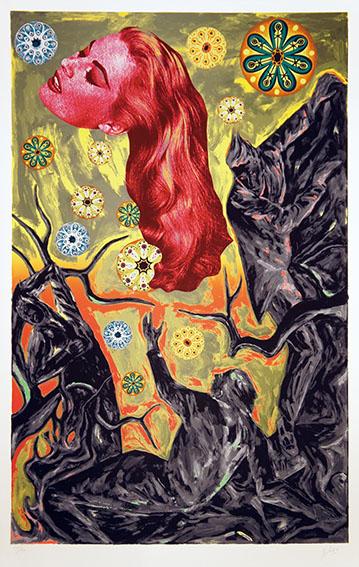 横尾忠則版画「予兆の刻 II」/Tadanori Yokoo